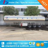 Stainless Steel Liquid Food Transport Semi Trailer 30-60M3 Milk Transport Tank Truck For Sale