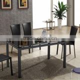 modern high-end lengthing extentable space-saving durable tempered glass dining table L825