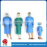 China factory non-toxic green Fluid resistance hospital disposable sterile SMS PP nonwoven surgical gown