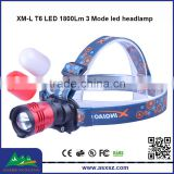 FeiYing XQ 80 XM-L T6 led head light 1800Lm 3 Mode waterproof led headlamp