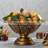 Customized resin decorative gilded dry fruit tray