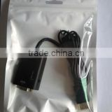 New product 3.5mm jack audio+hdmi cable HDMI to VGA + 3.5mm Jack Audio Cable Video Converter Adapter PC Laptop DVD