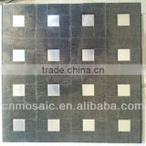 copy mirror & steel color peel and stick brushed aluminium instant tile for kitchen background wall decoration