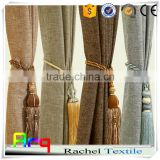 Simple curtain design cotton linen jacquard fabric for modern curtain sets, cushion cover, sofa sets