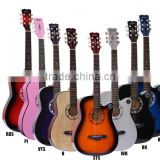 38C cheap Factory price 38 inch 6 string beginners basswood wholesale acoustic guitar