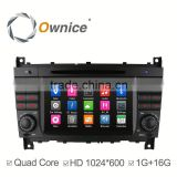 Wolesale Price Android 4.4 quad core GPS sat nav for Mercedes Benz W203 W209 support bluetooth handsfree