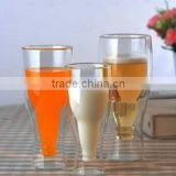 Classical style double wall beer pint glass for drinking