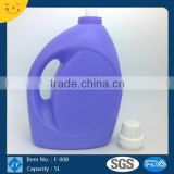5L Plastic Material and HDPE Plastic Type Plastic liquid laundry Detergent Bottle with cap and funnel
