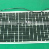 40W/18VSemi flexible monocrystalline silicon solar panel