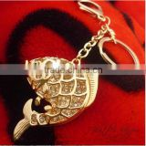 Real Fish Shape Hollow key chain Alloy Encrusted With Pave Setting Crystal Big Penndants keychain Choker