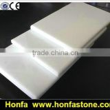 crystal white artificial marble tiles for building construction material
