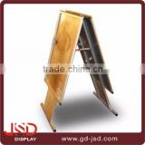 Hot selling photo display boards, restaurant menu display, standee a board display with poster