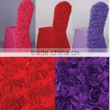 Bright - Colored Rosette Lycra Spandex Chair Cover