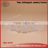 Hot selling queen hair tiara/ crown wedding bridal hair accessory