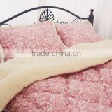 4Pcs Bedding Set With 2pcs Pillow Case, Quilt and Mattress Super Soft Feeling and Comfortable Twin Size