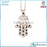 Gold fatima hand necklace turkish jewelry wholesale supplier