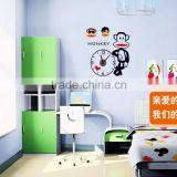 Free shipping Creative clock Children's room decoration stickers stickers clock wallpaper Cartoon pvc murals SA-1-008