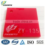 100% Virgin Lucite Advertising Red Material Heat Resistant Plastic Sheet Cast Acrylic Sheet