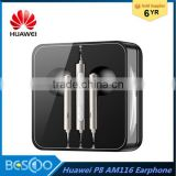 2016 Original HUAWEI AM116 P8 Lite the semi-Ear Headphones with microphone and Remote 3.5mm for huawei honor 6 Mate7 earphones