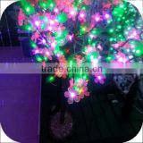 cherry blossom garden decoration plastic trees artificial cherry flower cheap led landscape tree lamp led fake blossom
