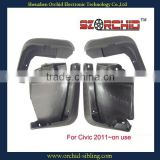 aftermarket full set black mudguard for cars