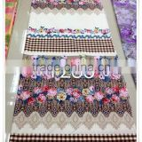 100% cotton fabric wholesale for bed sheets with pigment printed 100% cotton bedding fabric flower printed fabric