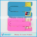 Popular promotional gifts 90*56mm silicon card holder, phone card wallet, logo can be printed