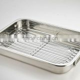 turkey baking pan with rack, roaster pan, ovenware, chicken baking pan, roasting pan