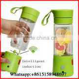 3 Colors USB Electric Fruit Juicer Handheld Smoothie Maker Blender Rechargeable Mini Portable Juice Cup Water Bottle 380ml