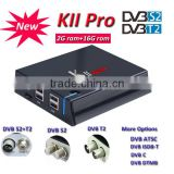 Smart KII Pro Digital Satellite TV Receiver, Best Original 4K HD Android TV Box,Combo Decoder S2 T2 Cheap Price