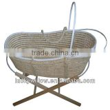 moses basket/deluxe exclusive coin husk bassinette basket(factory provide)