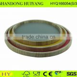 round shape printed wooden serving tray wholesale