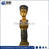 Home decore resin character woman bronze statue