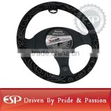 #19581 38cm diameter Genuine Leather Cool Steering wheel cover