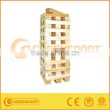 30/56Pcs Wooden Tumbling Tower Tailgating Game Giant Jenga For Outdoor Game Garden Jenga