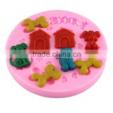 silicone cake mold Chocolate Mold DIY baking tools baking mold - pet dog taobao 1688 agent