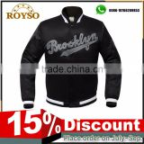 Customize High Quality Baseball Black Style School College Varsity Letterman Fleece Team Mens Unique Design Sport Cotton Jackets