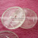 low place transparent resin plastic Button