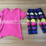 Wholesale casual kids summer boutique clothing sets In Stock Girls 2Pcs Set Children Outifit