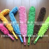 washable microfiber flexible chenille car cleaning duster dust mop making machine