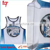 Sublimated Polyester Mesh Box Us Lacrosse Club Pinnies Wholesale hot sale custom sublimation Lacrosse Jersey/ uniform/ wear