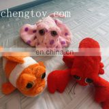 plush &stuffed soft white plush sea animal toys