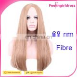 68CM Straight Heat Friendly Hair Long Blonde Wig