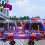 sewing type zorb ball inflatable racing track for adults