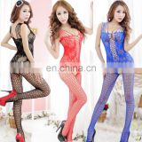 Latest seamless sleeveless sexy nylon fishnet Bodystocking OPEN CROTCH