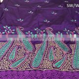 african sequins george lace flower embroidery fabric of GL10033-1 Swaali Made In India George & Wrapper 2016 Design 15