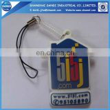 customized keychain pvc mobile phone cleaner