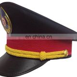 cheap security cap/cade hat/cade cap/bucket cap with read band and embrodiery