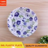TX209 PLASTIC ROUND PLATE IML TRAY CHEAP SMALL SALAD BOWL