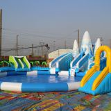 Inflatable Water Park inflatable aqua park water slide with swimming pool for sale
